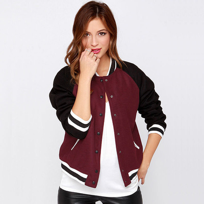 Europe and leisure pocket decoration into joining baseball uniform long-sleeved jacket short coat's main photo