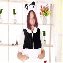 厂家批发各式毛绒儿童动物背心熊猫卡通动物马甲表演道具服