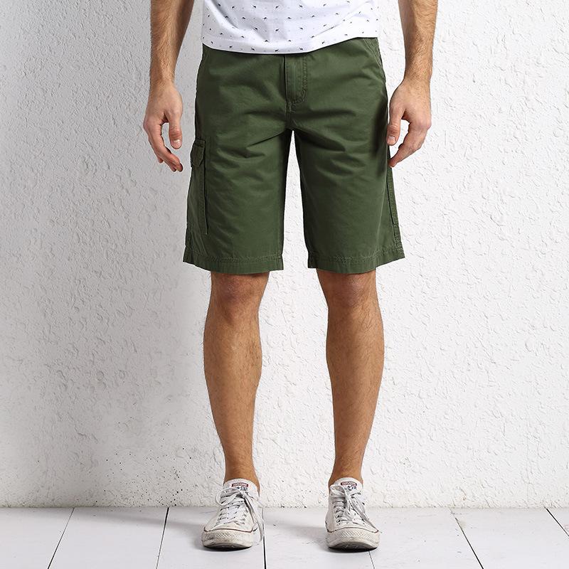 NIAN JEEP夏季五分短裤男大码休闲多口袋工装裤中腰