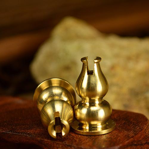 廠家批發 純銅葫蘆香插香座 線香香爐 盤香香托香配件 香插 銅