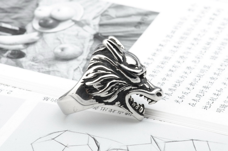 Fashion Titanium Stainless Steel Stamping RingAnimal (The United States on the 13th)NHZH0372-The United States on the 13th