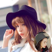 秋冬新款韩版成人情侣毛呢英伦礼帽潮 女士男士时尚休闲百搭帽子