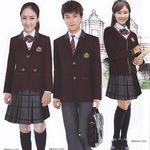 新款男女英伦学院班服套装长袖中学生高中校服礼服装 免费打样