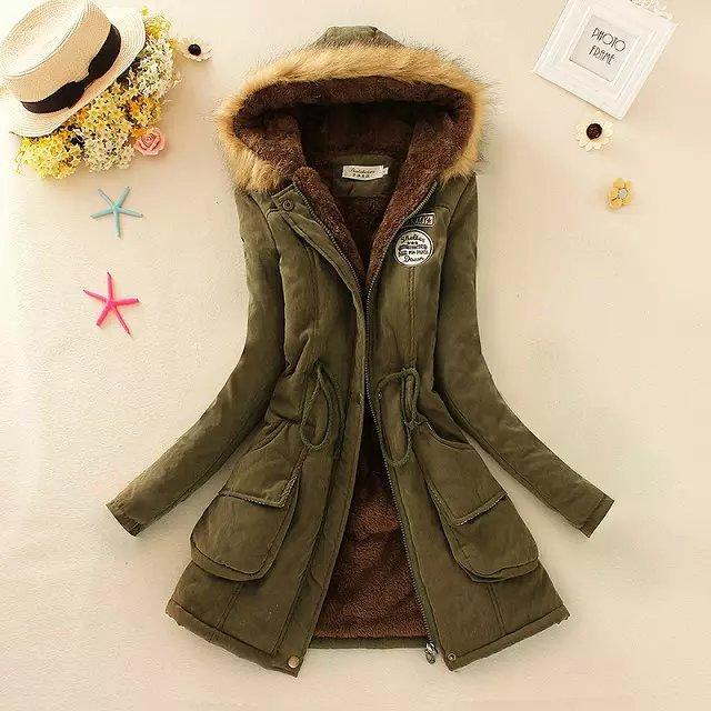 冬加厚外套大码连帽中长款棉服毛领羊羔绒毛抽绳棉衣女批发加大码