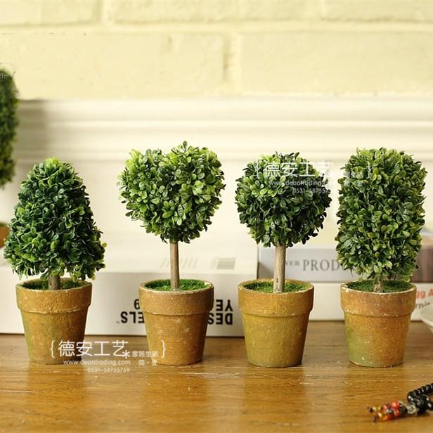 迷你外贸欧式仿真植物盆栽爱心款 厂家直销可混批整箱发