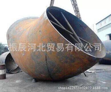 石家庄优质鸿盛泰牌大口径对焊1倍压片90度10公斤弯头厂家直销