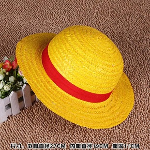 One Piece Luffy Small Straw Hat Without Rope Luffy Hat New World Straw Hat Foreign Trade Export Straw Hat