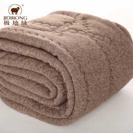 男士三层加绒加厚驼绒裤冬季中老年人女式羊毛保暖棉裤加肥加大码