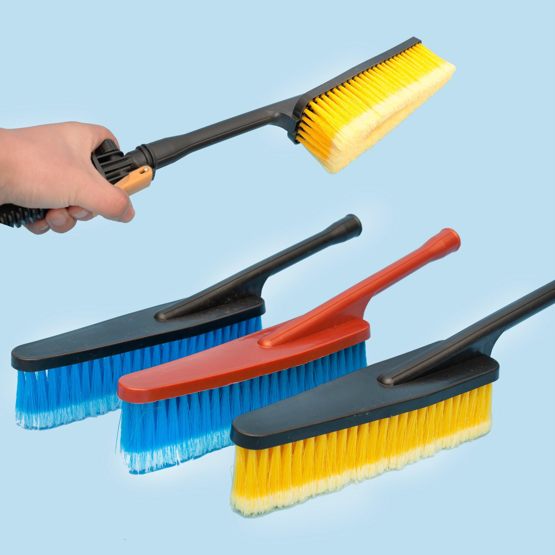 汽車泡沫洗車通水刷子長柄軟毛噴水擦車刷除塵汽車清潔刷洗車工具