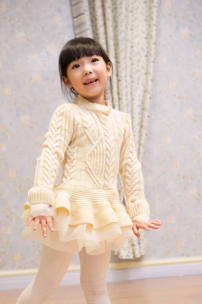 2016 Spring Autumn Kids Girls Knit Sweater Dresses Baby