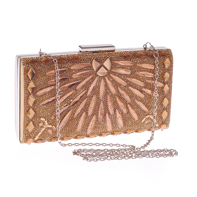 Bag new evening party bag with glass drill ladies clutch NHYG178965
