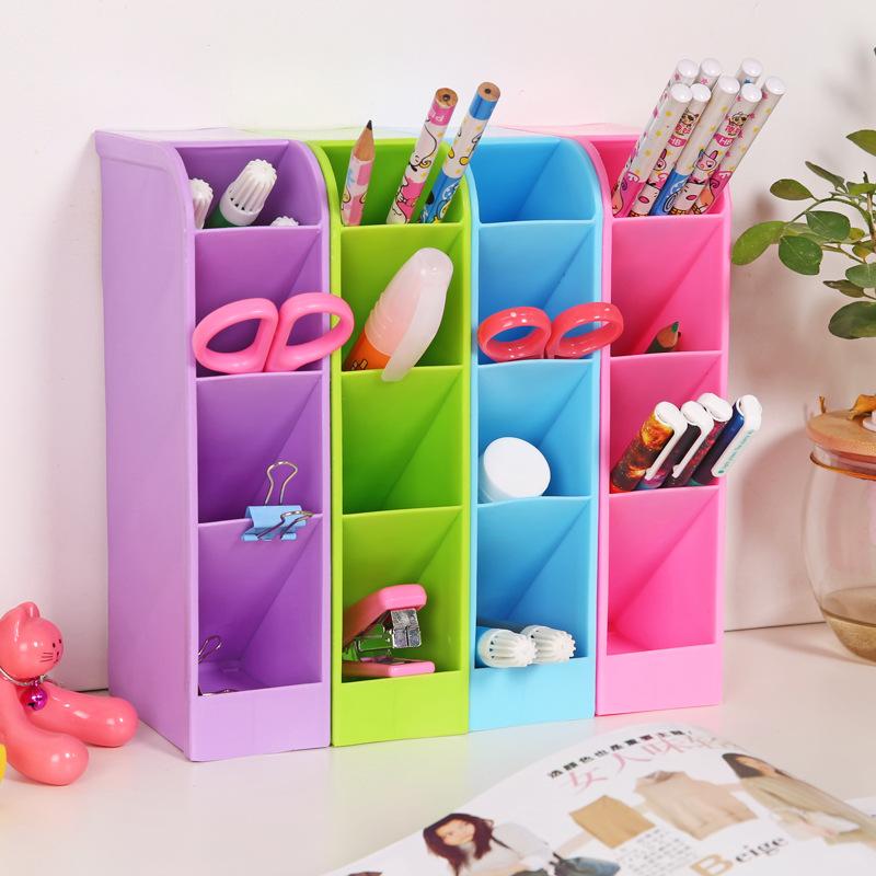 A1-31塑料桌面收纳盒创意杂物整理盒办公桌面化妆品储物盒批发