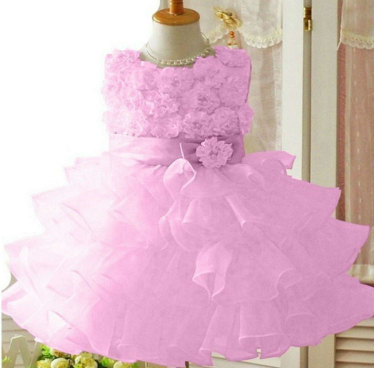 A Child Wearing Princess Dress Wedding Flower Girl Dress Shoulder ...