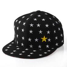 亲子款?#20449;?#20799;童亲子平沿帽 刺绣五角星棒球帽嘻哈帽
