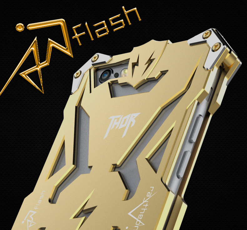 SIMON THOR Aviation Aluminum Alloy Shockproof Armor Metal Case Cover for Apple iPhone 6S Plus