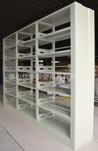 钢铁书架 专业配套图书馆双柱书架 全钢单面图书架 六层钢制书架