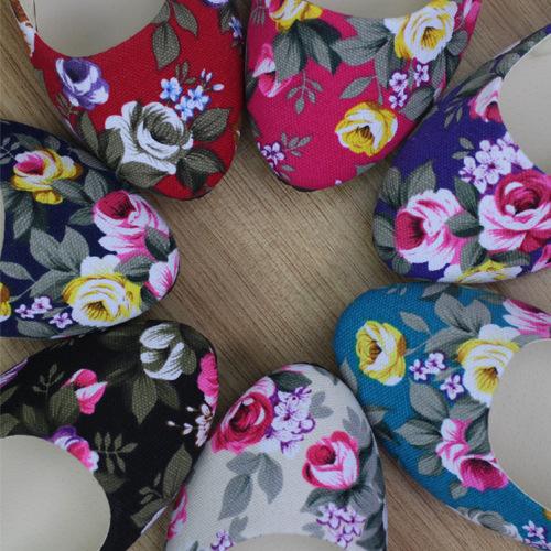 2019春夏女鞋平底单鞋帆布迷彩玫瑰花多色大码热卖批发外贸
