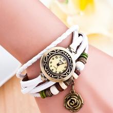欧美韩版品时尚学生表 复古女性潮流手链表森女手表玫瑰花手链表