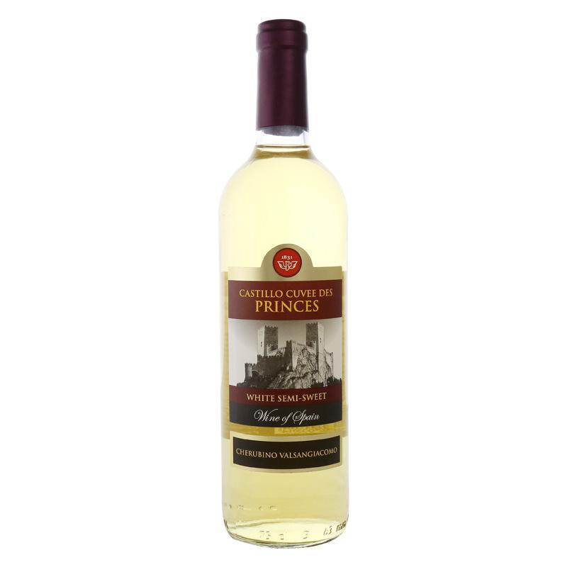 西班牙原裝進口白葡萄酒 帝諾王子半甜白葡萄酒750ml批發