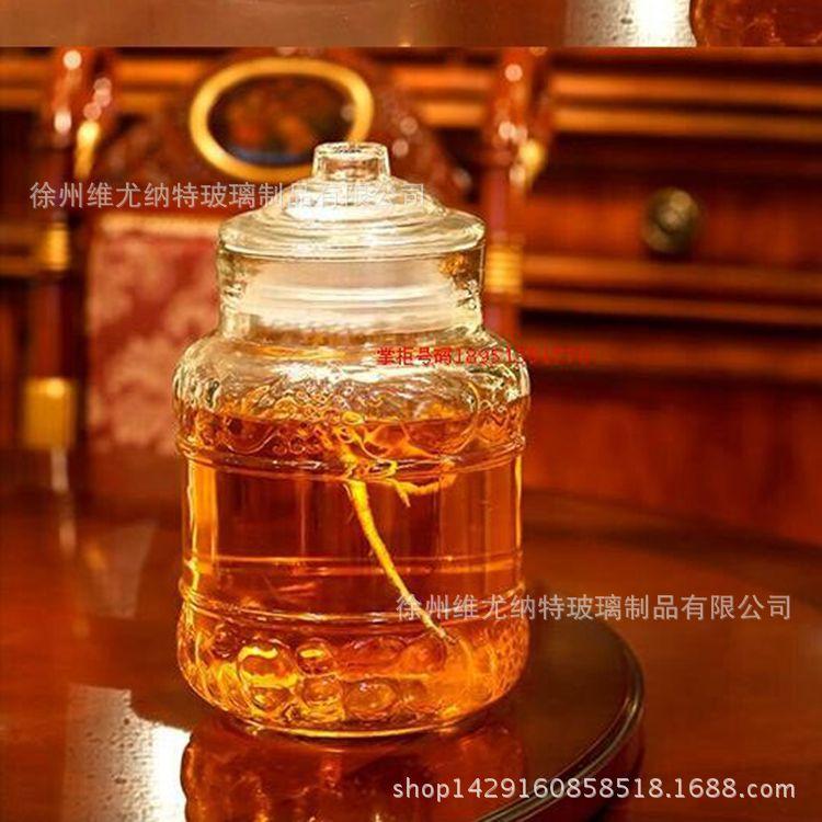 批发欧式雕花泡酒瓶梅酒瓶带龙头无铅玻璃自酿酒坛储物罐
