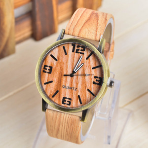 New watch wholesale fashion wood grain color men and women watch waterproof watch special small wholesale
