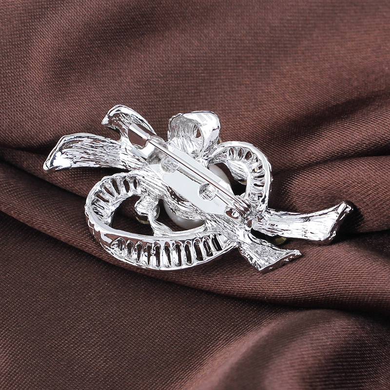 Simple Alloy plating brooch Flowers (White k Ab081-A)  NHDR2298
