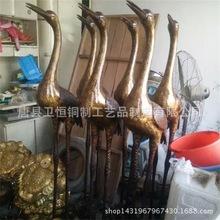 厂家专业生产加工纯铜仙鹤 鹤登龟 铜鹤 飞鹤 纯铜动物工艺品