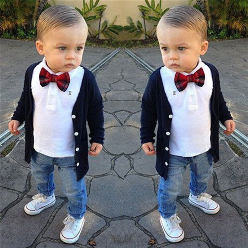 9da0914bd 2019 2019 Baby Boys Gentleman Long Sleeve Three Piece Suits Clothing ...