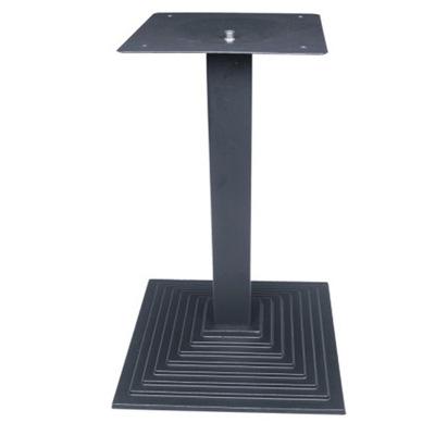酒店餐厅家具黑色方铸铁底盘 梯级铸铁桌腿咖啡厅餐桌架