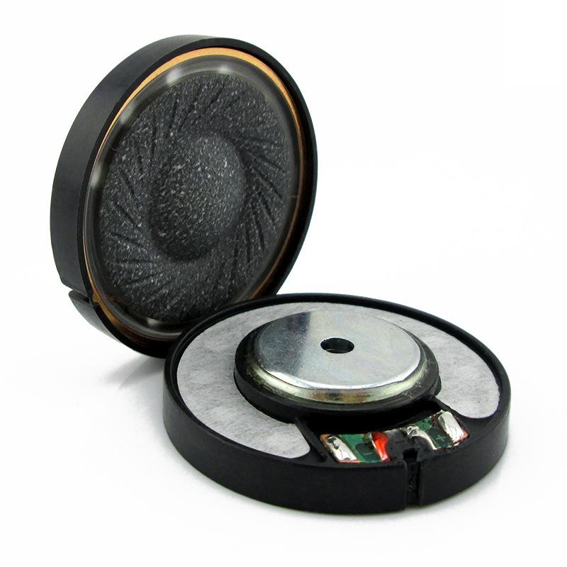 厂家直供立体音40MM真铜环pu复合振膜喇叭音质可与头戴耳机喇叭
