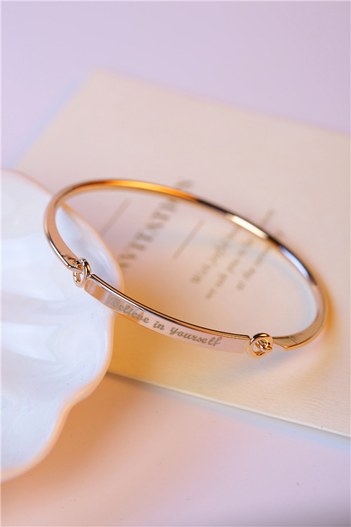 Korean version of the simple English alphabet bracelet NHMS156029