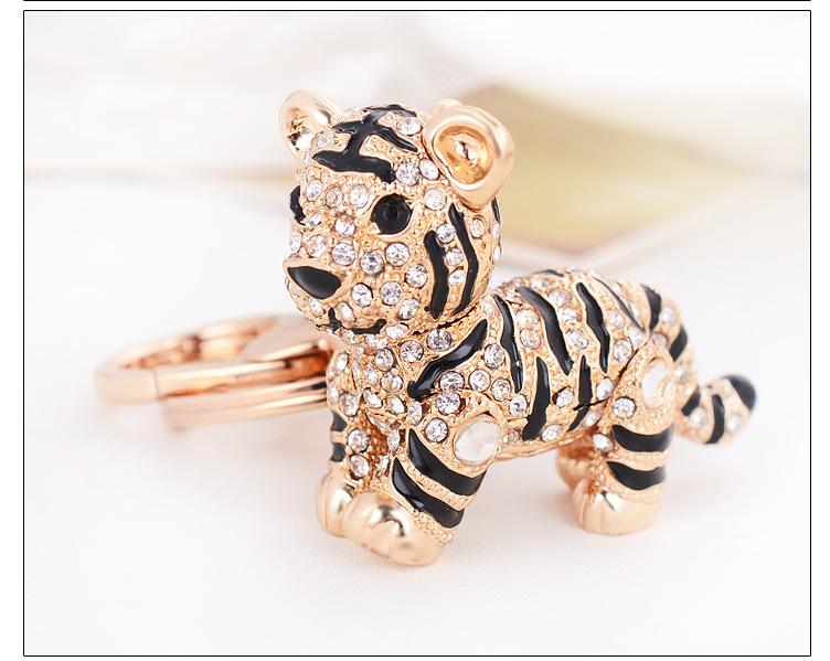 goedkope - Kleine Tijger sleutelhanger met diamanten