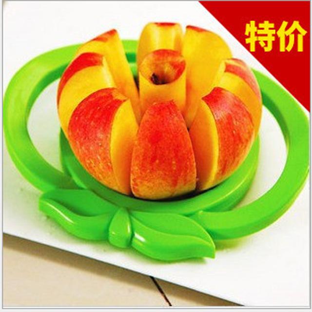 江湖地摊货 大号不锈钢切果器 分切器 带手柄水果小工具 苹果切