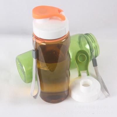 带盖塑料运动水壶PC太空杯 创意便携塑料水杯 学生随身带礼品杯