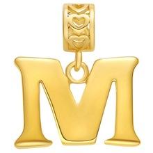 镀厚银18K项链 淘宝新款项链 字母-M 吊坠 贤美外贸饰品批发