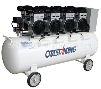奥突斯OTS-1500*4-160L无油静音空压机 6KW 充气泵空气压缩机