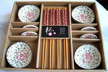 鐵木五筷五架組合餐具、禮品套裝、、竹木筷陶瓷套裝廠家批發