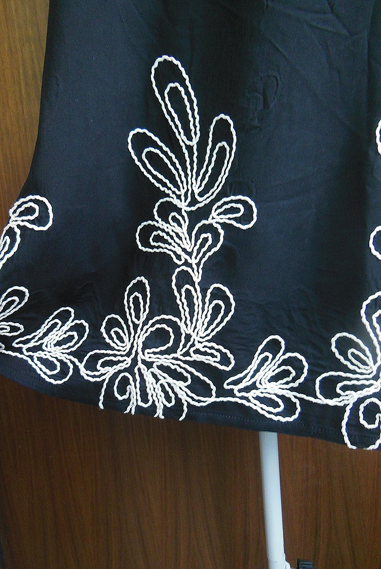Polyester Koreadress(Black Embroidery - One Size) NHDF0252-Black Embroidery - One Size