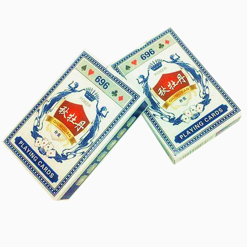 696武义扑克批发供应2元超市秋牡丹扑克牌(可定制广告扑克)