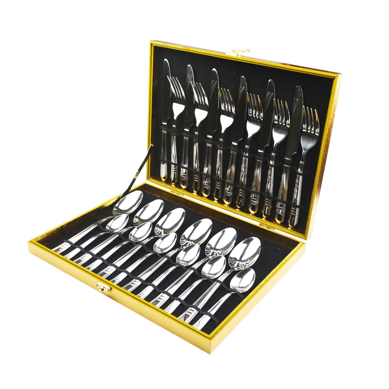 木盒刀叉勺24件套