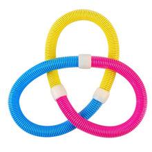 软式呼啦圈 不锈钢弹簧彩色多功能呼啦圈 儿童成人男女款