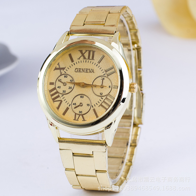 Leisure Ordinary glass mirror alloy watch (Alloy white flour) NHSY0207