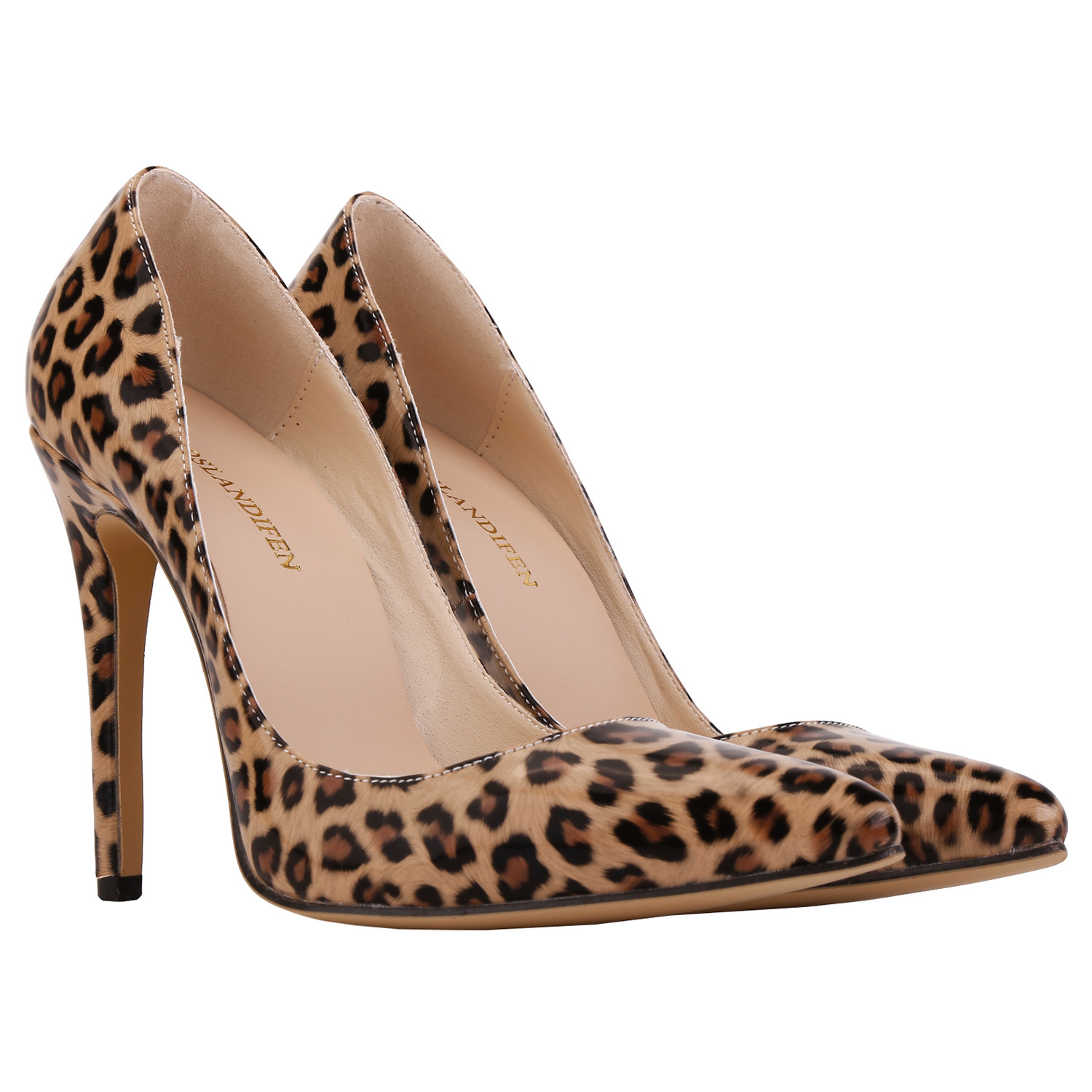 Candy color pointed high heels leopard printshoes shoes's main photo