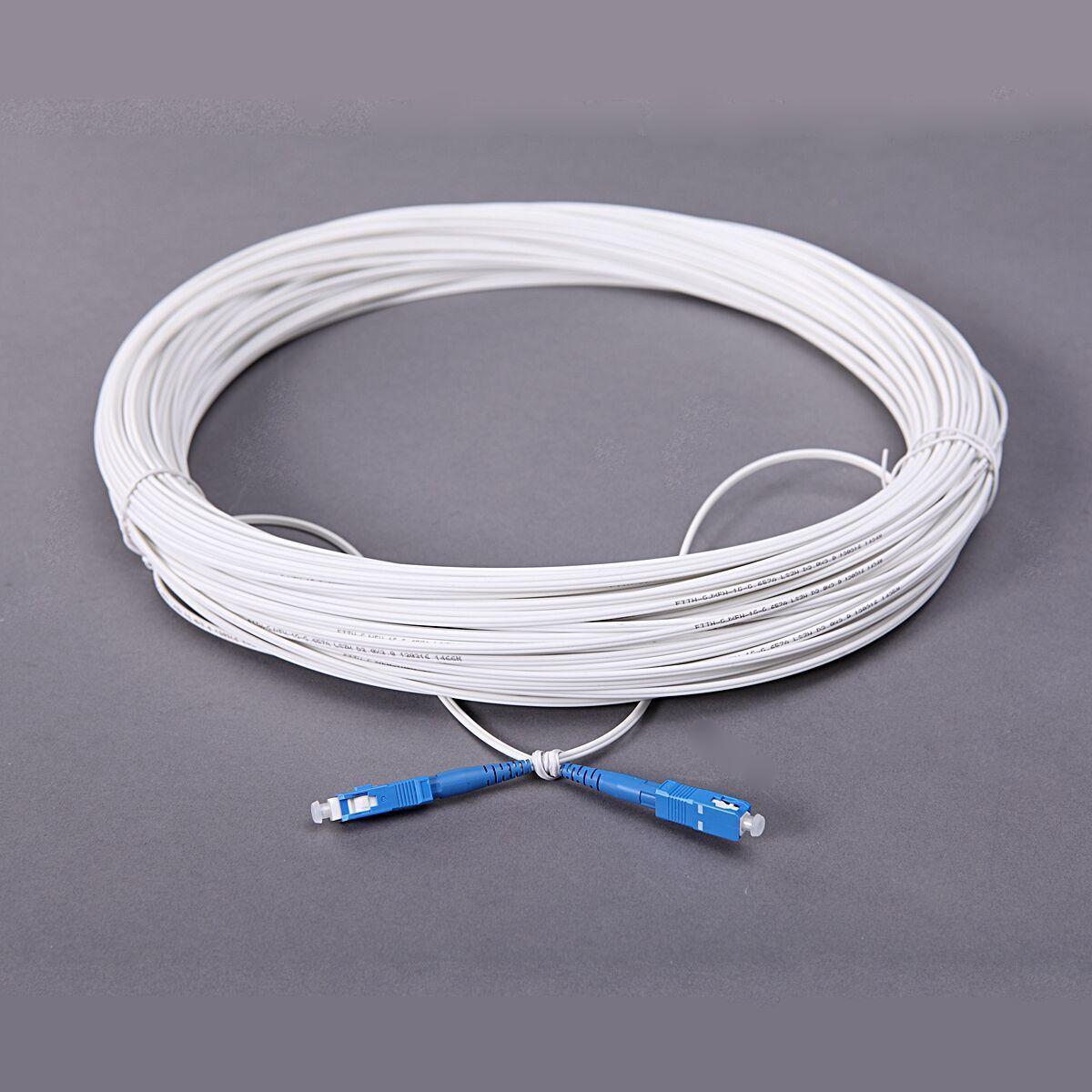 皮线光缆跳线缆 50米SC-SC室内单芯光纤跳线皮线 厂家直销可订制