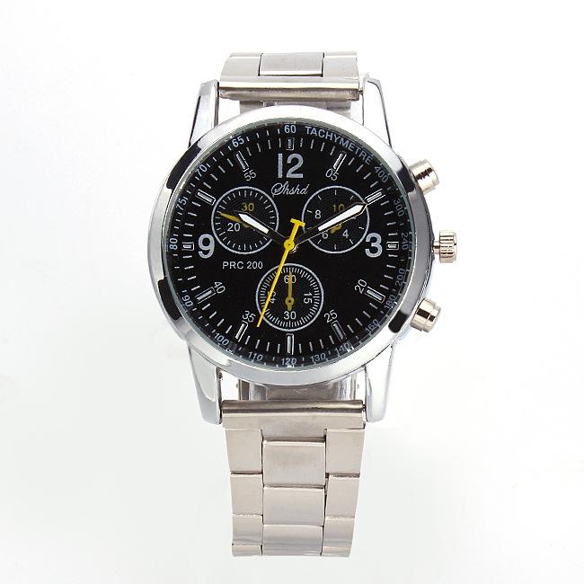 厂家批发 新款时尚高档商务男士腕表钢带手表一件代发