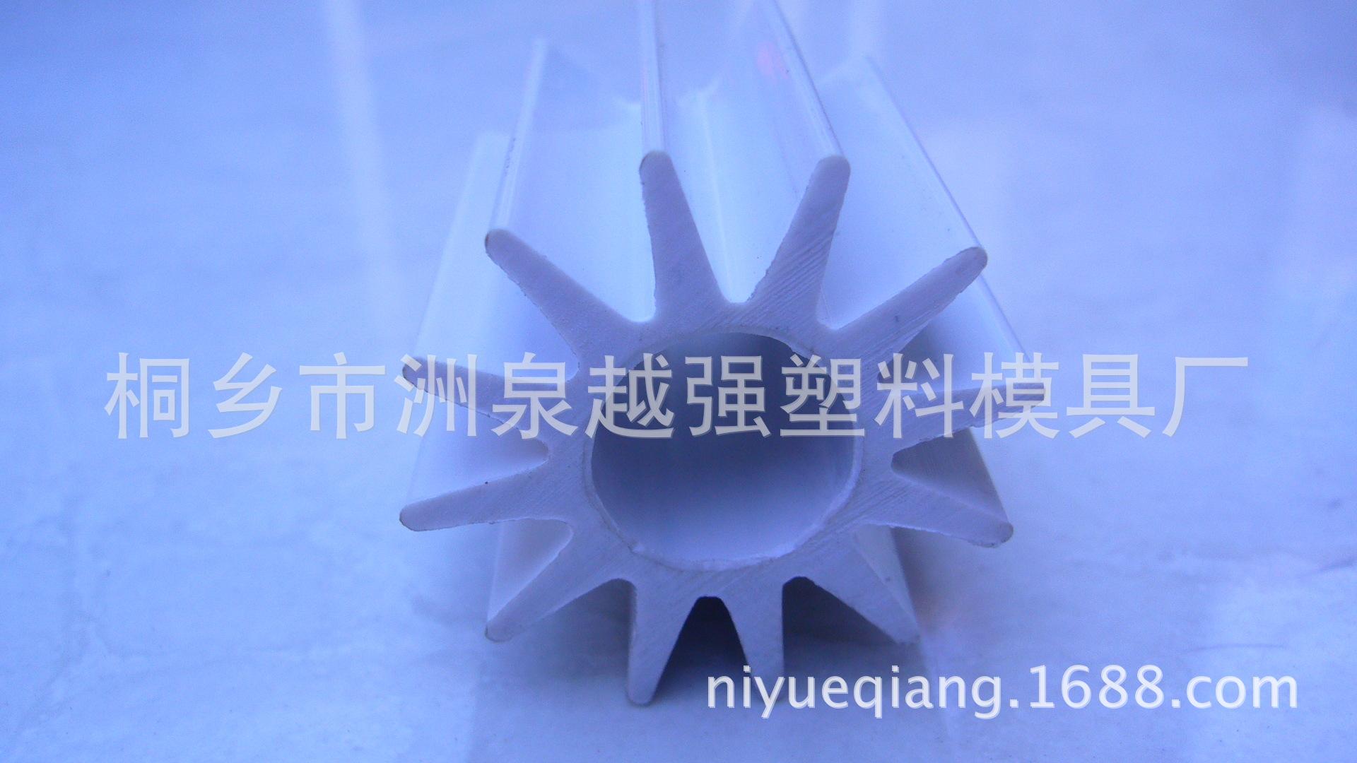 供应茶几 家具 餐桌立柱塑料型材 PVC异型管 挤出模具 挤塑加工