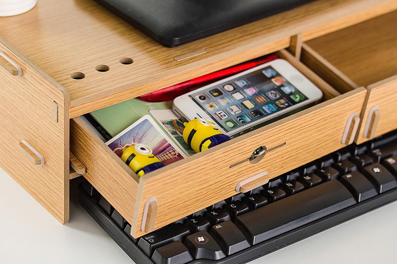 Buy Monitor Stand Shelf Dual Keyboard Storage Computer