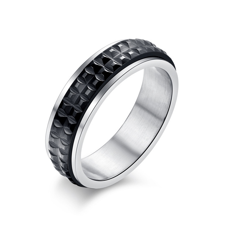 Korea Titanium Stainless Steel Plating RingGeometric (Female models on the 8th)NHZH0374-Female models on the 8th