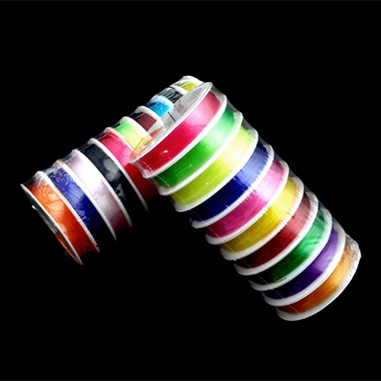 DIY水晶弹力线/透明弹力绳 串珠穿线 珍珠水晶手链配件线 彩色线