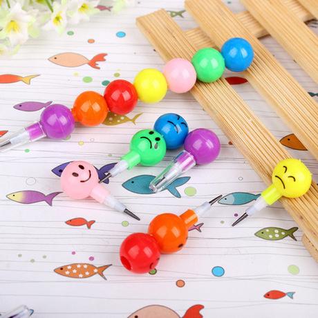 Sweet Super Q Smiley Pencil Candy Cane Pencil Dễ thương miễn phí Bút chì Giải thưởng sinh viên Bán buôn